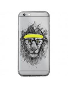 Coque Hipster Lion Transparente pour iPhone 6 Plus et 6S Plus - Balazs Solti