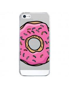 Coque iPhone 5/5S et SE Donuts Rose Transparente - Yohan B.