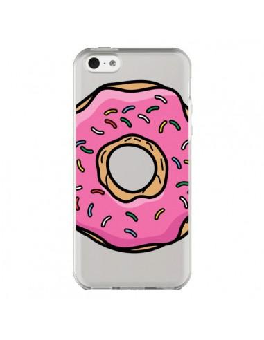 Coque Donuts Rose Transparente pour iPhone 5C - Yohan B.