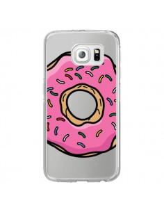 Coque Donuts Rose Transparente pour Samsung Galaxy S6 Edge - Yohan B.