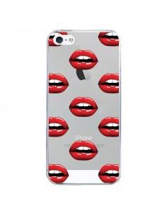 Coque iPhone 5/5S et SE Lèvres Rouges Lips Transparente - Yohan B.