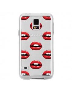 Coque Lèvres Rouges Lips Transparente pour Samsung Galaxy S5 - Yohan B.