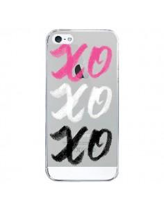 Coque iPhone 5/5S et SE XoXo Rose Blanc Noir Transparente - Yohan B.