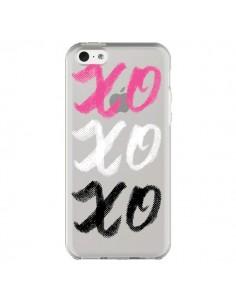 Coque iPhone 5C XoXo Rose Blanc Noir Transparente - Yohan B.