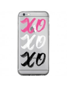 Coque iPhone 6 Plus et 6S Plus XoXo Rose Blanc Noir Transparente - Yohan B.
