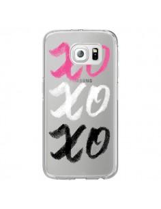 Coque XoXo Rose Blanc Noir Transparente pour Samsung Galaxy S7 Edge - Yohan B.