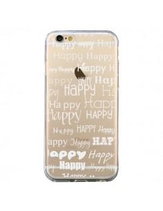 Coque Happy Happy Blanc Transparente pour iPhone 6 et 6S - R Delean