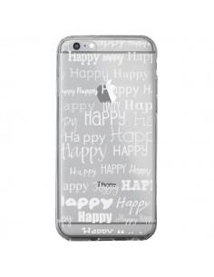 Coque Happy Happy Blanc Transparente pour iPhone 6 Plus et 6S Plus - R Delean
