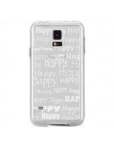 Coque Happy Happy Blanc Transparente pour Samsung Galaxy S5 - R Delean