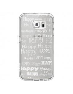 Coque Happy Happy Blanc Transparente pour Samsung Galaxy S6 - R Delean