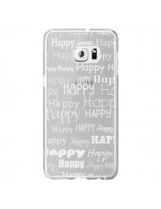 Coque Happy Happy Blanc Transparente pour Samsung Galaxy S6 Edge Plus - R Delean
