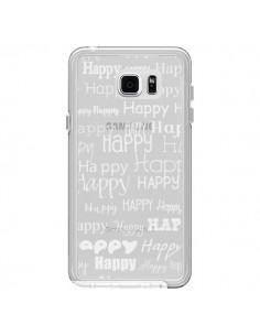 Coque Happy Happy Blanc Transparente pour Samsung Galaxy Note 5 - R Delean