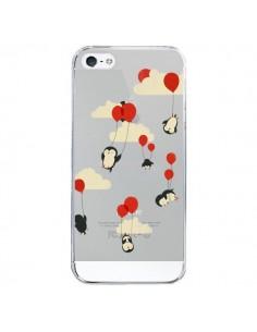 Coque Pingouin Ciel Ballons Transparente pour iPhone 5 et 5S - Jay Fleck