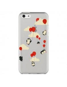 Coque Pingouin Ciel Ballons Transparente pour iPhone 5C - Jay Fleck