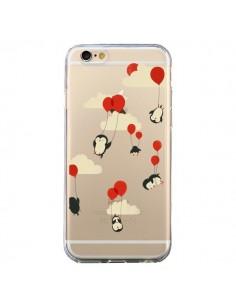 Coque Pingouin Ciel Ballons Transparente pour iPhone 6 et 6S - Jay Fleck