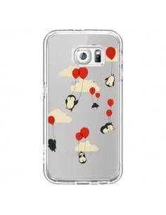 Coque Pingouin Ciel Ballons Transparente pour Samsung Galaxy S6 - Jay Fleck