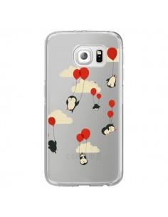 Coque Pingouin Ciel Ballons Transparente pour Samsung Galaxy S6 Edge - Jay Fleck