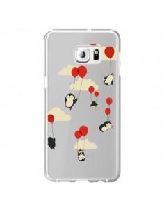 Coque Pingouin Ciel Ballons Transparente pour Samsung Galaxy S6 Edge Plus - Jay Fleck