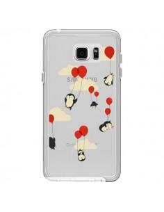 Coque Pingouin Ciel Ballons Transparente pour Samsung Galaxy Note 5 - Jay Fleck