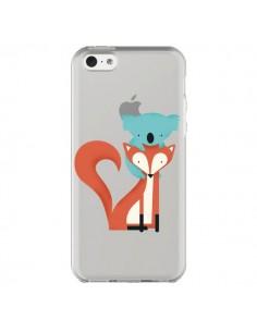 Coque Renard et Koala Love Transparente pour iPhone 5C - Jay Fleck