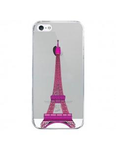 Coque Tour Eiffel Rose Paris Transparente pour iPhone 5/5S et SE - Asano Yamazaki