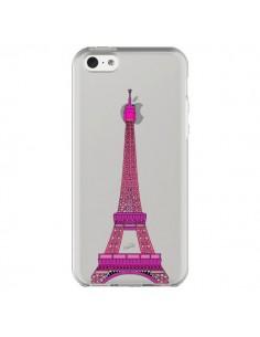 Coque Tour Eiffel Rose Paris Transparente pour iPhone 5C - Asano Yamazaki