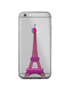 Coque Tour Eiffel Rose Paris Transparente pour iPhone 6 Plus et 6S Plus - Asano Yamazaki