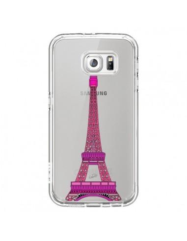 Coque Tour Eiffel Rose Paris Transparente pour Samsung Galaxy S6 - Asano Yamazaki