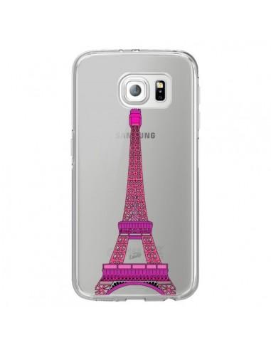 Coque Tour Eiffel Rose Paris Transparente pour Samsung Galaxy S6 Edge - Asano Yamazaki