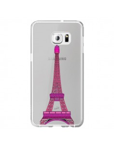 Coque Tour Eiffel Rose Paris Transparente pour Samsung Galaxy S6 Edge Plus - Asano Yamazaki