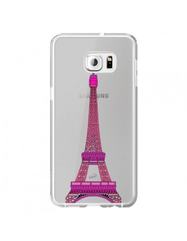 Coque Tour Eiffel Rose Paris Transparente pour Samsung Galaxy S6 Edge Plus - Asano Yamazaki