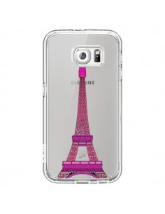 Coque Tour Eiffel Rose Paris Transparente pour Samsung Galaxy S7 - Asano Yamazaki