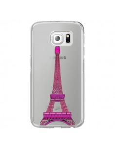 Coque Tour Eiffel Rose Paris Transparente pour Samsung Galaxy S7 Edge - Asano Yamazaki