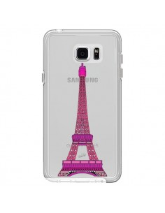 Coque Tour Eiffel Rose Paris Transparente pour Samsung Galaxy Note 5 - Asano Yamazaki