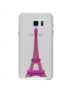 Coque Tour Eiffel Rose Paris Transparente pour Samsung Galaxy Note 5 - Asano Yamazaki