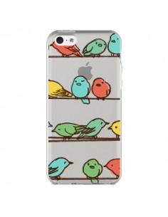 Coque iPhone 5C Oiseaux Birds Transparente - Eric Fan