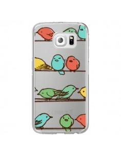 Coque Oiseaux Birds Transparente pour Samsung Galaxy S6 Edge - Eric Fan