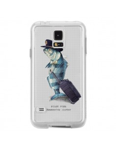Coque Pilot Fish Poisson Pilote Transparente pour Samsung Galaxy S5 - Eric Fan