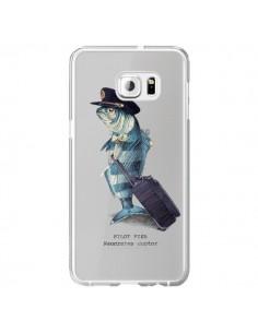 Coque Pilot Fish Poisson Pilote Transparente pour Samsung Galaxy S6 Edge Plus - Eric Fan