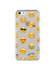 coque love amoureux smiley emoticone emoji transparente pour iphone 5c laetitia. Black Bedroom Furniture Sets. Home Design Ideas