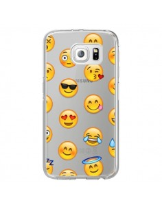 Coque Smiley Emoticone Emoji Transparente pour Samsung Galaxy S7 Edge - Laetitia