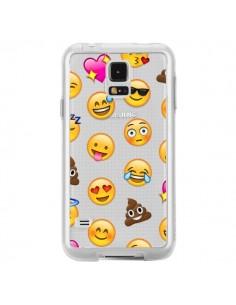 Coque Emoticone Emoji Transparente pour Samsung Galaxy S5 - Laetitia