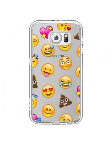 Coque Emoticone Emoji Transparente pour Samsung Galaxy S7 - Laetitia