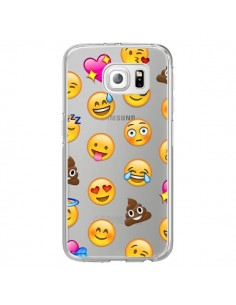 Coque Emoticone Emoji Transparente pour Samsung Galaxy S7 Edge - Laetitia