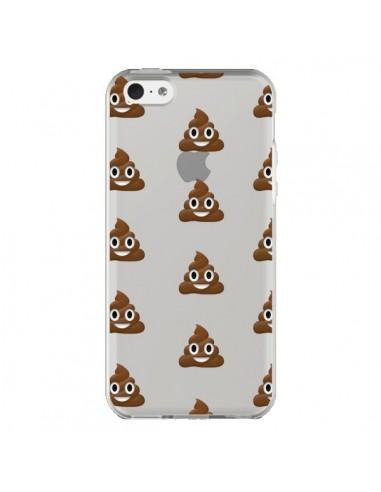Coque Shit Poop Emoticone Emoji Transparente pour iPhone 5C - Laetitia