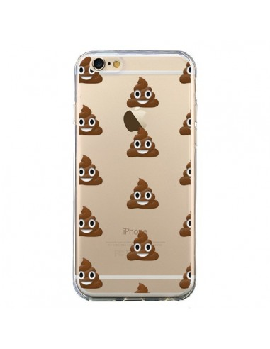 Coque Shit Poop Emoticone Emoji Transparente pour iPhone 6 et 6S - Laetitia