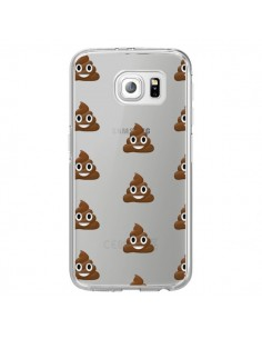 Coque Shit Poop Emoticone Emoji Transparente pour Samsung Galaxy S6 Edge - Laetitia