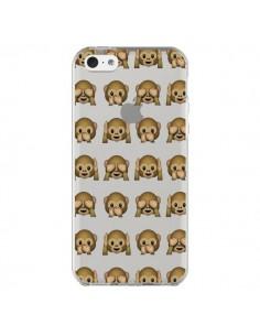 Coque Singe Monkey Emoticone Emoji Transparente pour iPhone 5C - Laetitia
