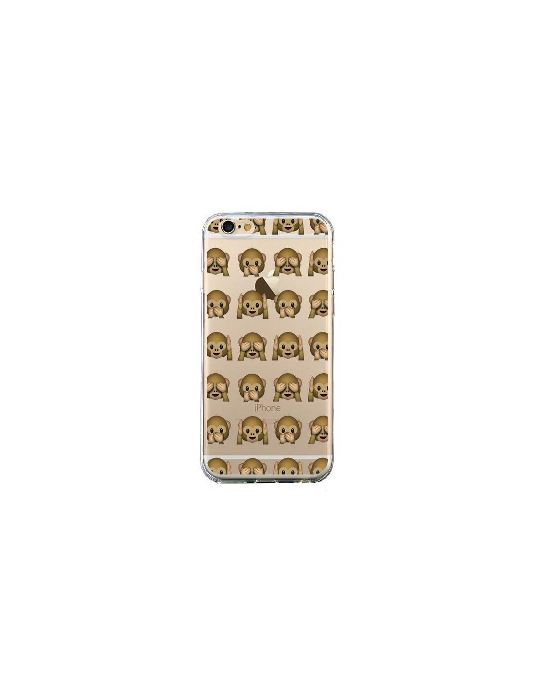 Hervorragend Singe Monkey Emoticone Emoji Transparente pour iPhone 6 et 6S  RN44