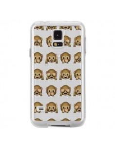Coque Singe Monkey Emoticone Emoji Transparente pour Samsung Galaxy S5 - Laetitia